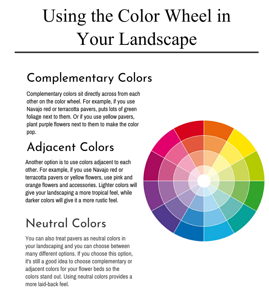 Using The Color Wheel In Your Landscape Infographic Parsons Rocks
