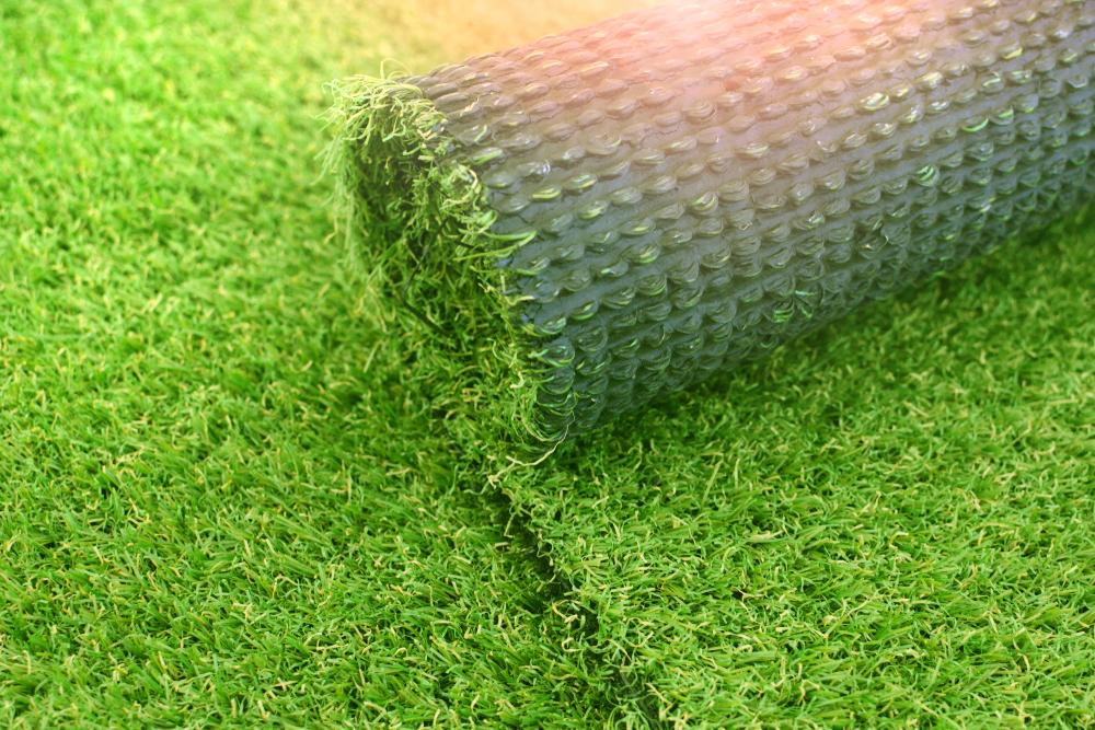 a roll of artificial grass